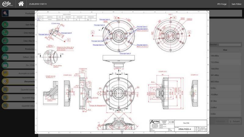 gestion de temps de production, document de production, module ERP suivi de production