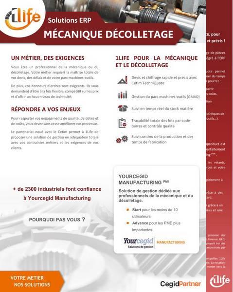 logiciel ERP pour secteur mécanique et décolletage